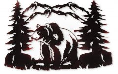 Black Bear Metal Wall Art