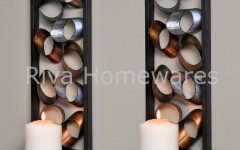 Metal Wall Art Candle Holder