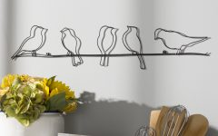 Rioux Birds on a Wire Wall Decor
