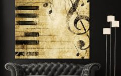 Abstract Musical Notes Piano Jazz Wall Artwork