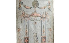 Blended Fabric Ethereal Days Chinoiserie Wall Hangings with Rod