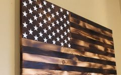 Wooden American Flag Wall Art