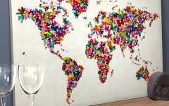 Butterfly Map Wall Art