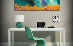 Orange And Turquoise Wall Art