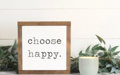 Choose Happy Wood Wall Decor