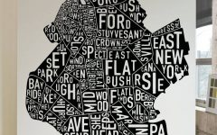 Brooklyn Map Wall Art