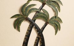 Metal Wall Art Palm Trees