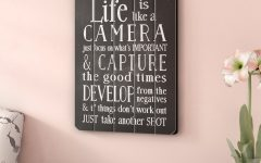 Life Is Like a Camera Textual Art