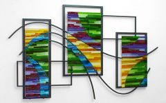 Glass And Metal Wall Art