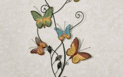 Butterflies Metal Wall Art