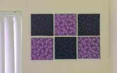 Purple Fabric Wall Art