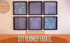 Diy Framed Fabric Wall Art