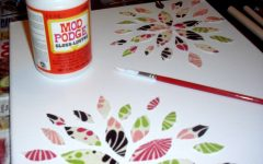 Mod Podge Fabric Wall Art
