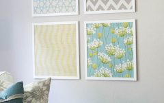 Fabric Covered Frames Wall Art