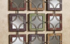 Metal Wall Art with Mirrors