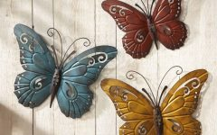 Butterfly Garden Metal Wall Art