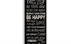 Canvas Wall Art Family Rules