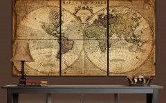 Large Map Wall Art
