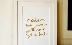 Gold Foil Wall Art
