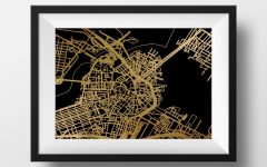 Boston Map Wall Art