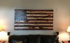 Rustic American Flag Wall Art