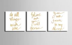 Letters Canvas Wall Art