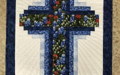 Blended Fabric Old Rugged Cross Wall Hangings