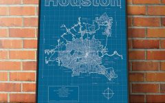 Houston Map Wall Art