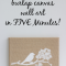 Burlap Fabric Wall Art