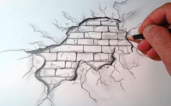 3D Brick Wall Art