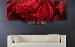 Abstract Metal Wall Art Painting