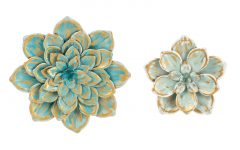 2 Piece Multiple Layer Metal Flower Wall Decor Sets
