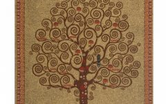 Blended Fabric Pastel Tree of Life Wall Hangings
