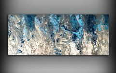 Dark Blue Abstract Wall Art