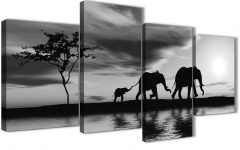 Black And White Large Canvas Wall Art