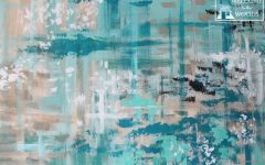Large Teal Wall Art