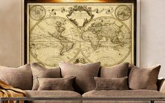 Vintage World Map Wall Art