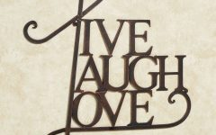Live Laugh Love Metal Wall Art