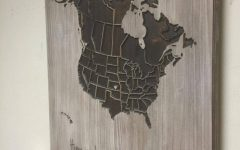 Map Wall Art Canada