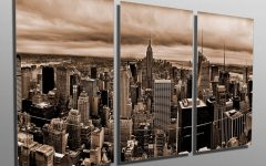 New York City Skyline Metal Wall Art
