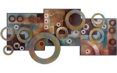 Circles Metal Wall Art