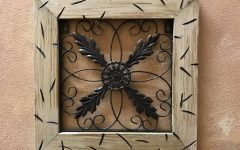 Wood Framed Metal Wall Art