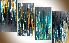 Turquoise and Black Wall Art