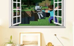 Minecraft 3d Wall Art