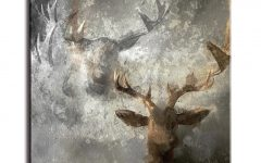 Abstract Deer Wall Art
