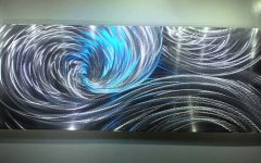 Abstract Aluminium Wall Art