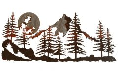 Mountain Scene Metal Wall Art