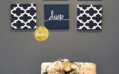Navy Canvas Wall Art