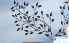 Contemporary Iron Leaves Wall Decor by Winston Porter