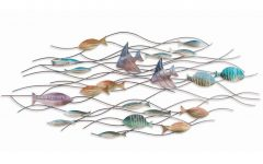 School Of Fish Metal Wall Art